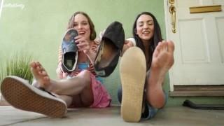 Summertime Soles PREVIEW - Stella Liberty, Lauren Kiley - Foot Fetish Barefoot Soles POV Humiliation