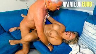 XXXOmas - Big Tits German Mature Seduces And Fucks Her Horny Husband - AMATEUREURO
