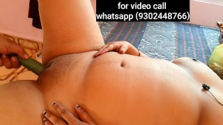 indian MOTHER fucking VERY hard with CUCUMBER & COCK (FULL HINDI AUDIO) WHATSAPP 6261267738