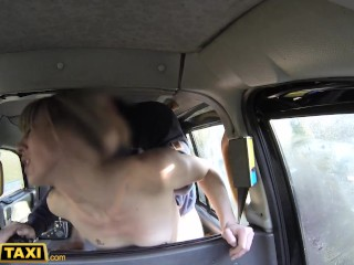 Fake Taxi Horny Dutch MILF with nice nipples and wet pussy takes a facial