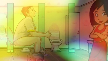 Gay Bathroom Dirty Talk Straight male gets Shemale JOI