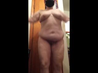 Chubby BBW Mature MILF Jumping Jacks