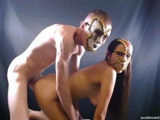 Eyes Wide Slut! starring Tom Cums & Nicole Fuckman! Boy and Girl Venetian Masks