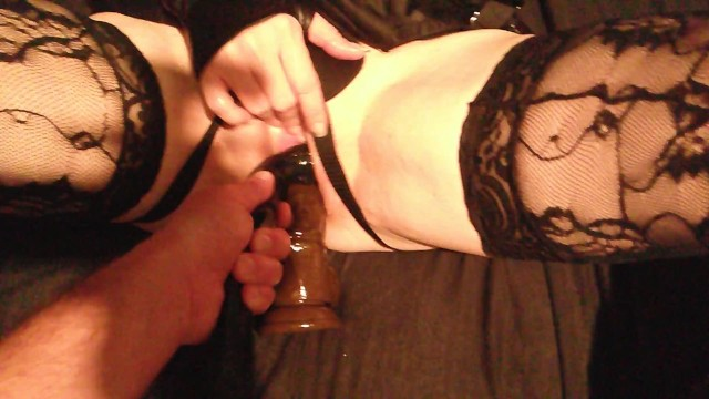 Taking 2 BBC dildos in my pussy with some help from my little bitch! 9