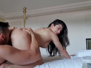 Hot couple fuck in the motel
