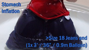 WWM - Size 18 Jeans Stomach Inflation