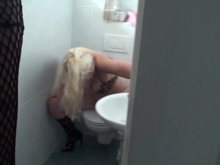 sissy boy of bizarrlady jessica must clean toilet after she pee