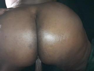 Hard pumping pounding backshots ebony ass cheeks gets...