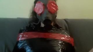 Bdsm sex slave, Monday ritual with my plastic wrap slavegirl