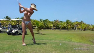 Topless Golfing with Nyssa Nevers