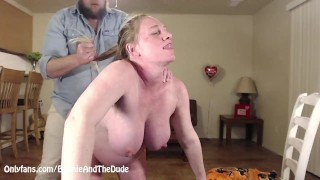 Creampie Pregnant Wife Pull Hair Make Her Tits Swing Sideview