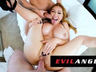 EvilAngel – Stacked Asian MILF Kianna Dior's Sloppy Threesome