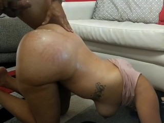My slut wife likes getting spanked and fucked...