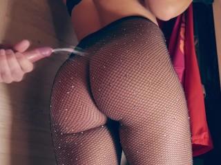 Babe Fish Net Panties Bound
