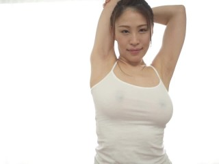 Busty JAV star Toka Rinne jump rope and stretching