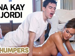 Lil Humpers - Perv Lil Masseuse Jordi Makes Love With big tit MILF Tina Kay