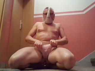 sissies cum in 1 minute challenge on mistress door
