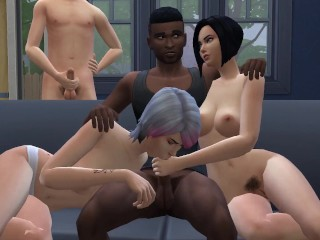 DDSims - BBC Master Takes Over Cuckold's Family - Sims 4