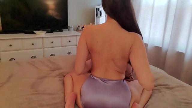 Slow Strip Tease Satin Panties 16