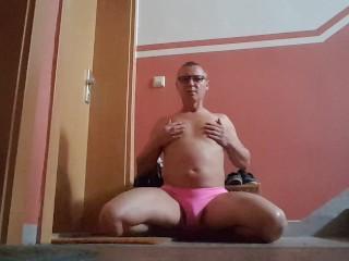 Sissies Cum in 1 Minute Humiliation Challenge at Mistress Door