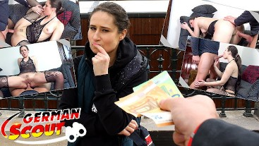GERMAN SCOUT - REAL COLLEGE TEEN LARA FOX I PICKUP AND ROUGH FUCK I STREET CASTING