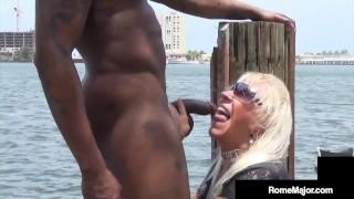 Big Dick Rome Major Slams Hot Granny Mandie McGraw Outdoors!