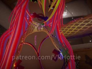 Raver with mesh top bondage with you in...