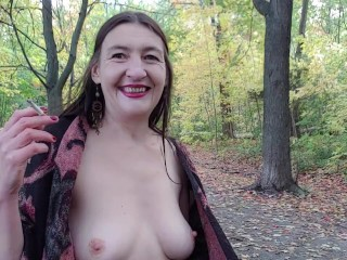 INHALE 45 Outdoor Smoking & Nudity by Gypsy Dolores