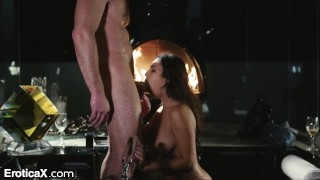 EroticaX - Autumn Falls Creampied After Erotic Bathtub Teasing