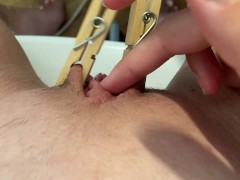 POV close up edging with ruined orgasm