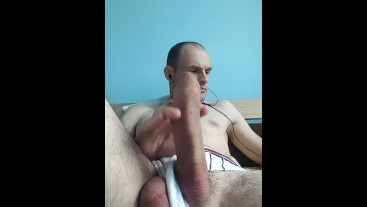Jerk off session with close ups. Cumshot. Messy cumming. Uncut dick.