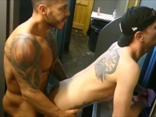Viktor rom fucks bareback oscar wood club toilet...