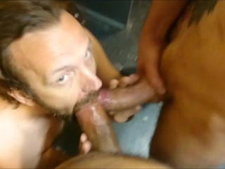 3 sleazy pigs fuck bareback in rory raw...