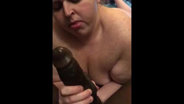 bbw bbc interracial blowjob