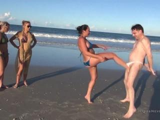 Public beach ballbusting goddess adara jordin taylor knight...