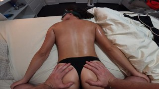 ThumperRealGood  -  SEXUAL MASSAGE EP.2! HOT STEP SISTER GETS SEXUAL MASSAGE SUPER HOT BABE MASSAGE