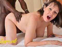 Big Breasted British Mom Satisfies her Boyfriend with her Pussy & Mouth