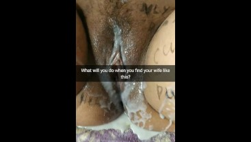 What will you do if you find your wife like this after a gangbang? [Cuckold. Snapchat]