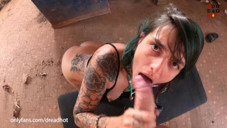 Public Fucking Inside Destroyed Construction over a Highway - Amateur Dread Hot