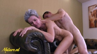 Experienced Mom wasn't Satisfied with her Husbands Dick