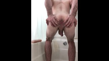 Anal play in the shower