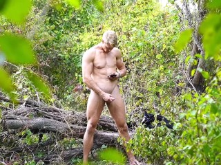 Bodybuilder noticed being spied on woods while...