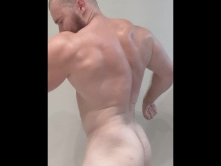 Before showering onlyfansdotcombeefbeast sexy hot...
