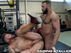RagingStallion - Jay Landford Fucks Riley Mitchel In Public Gym