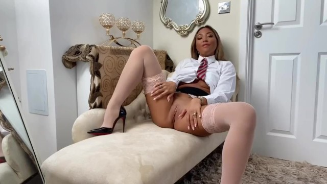 Naughty college girl Natalia Forrest PoV blow job and JOI 13