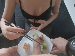 Cum Sushi - Teen Favorite Food (Massive Cumshot)