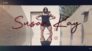 Muscle Milf Susan K Back Alley Flexing