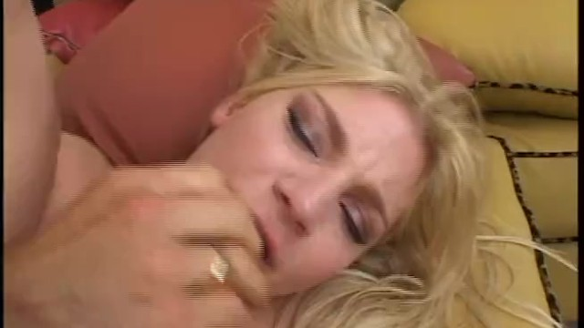 Blonde babe enjoys sucking a big cock and having rough anal sex with horny guy 15
