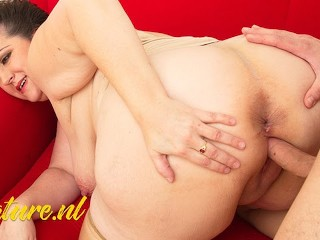 Milf spreads her legs for cock...