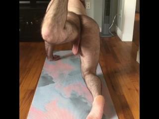 Naked morning stretches yoga...